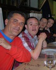 Jano con Marco, Jandro y Lidia