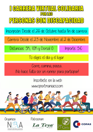 I CARRERA VIRTUAL A FAVOR DE LAS PERSONAS CON DISCAPACIDAD